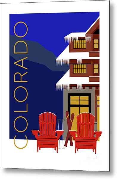 Colorado Chairs Metal Print