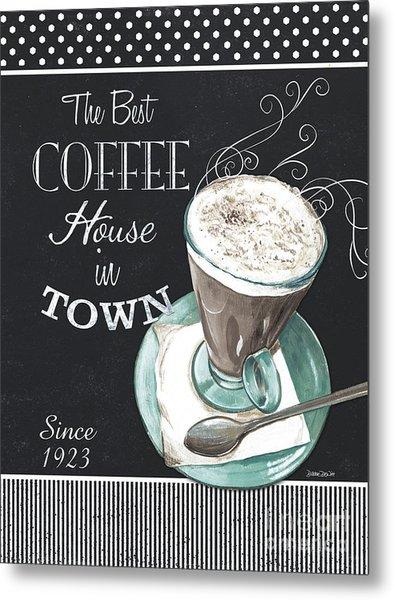 Chalkboard Retro Coffee Shop 2 Metal Print