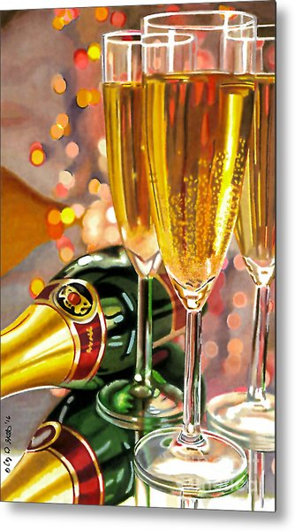 Champagne Wishes Metal Print
