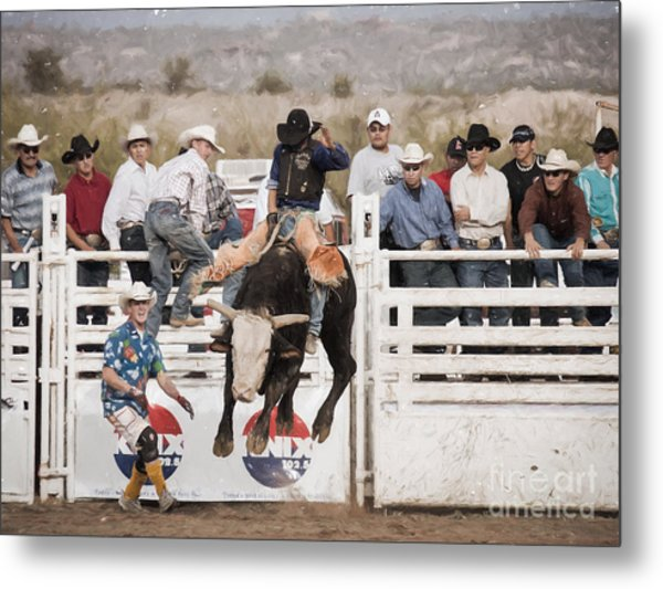Champion Bull Rider Metal Print