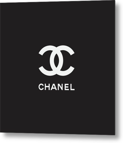 Chanel - Black And White 03 - Lifestyle And Fashion Metal Print