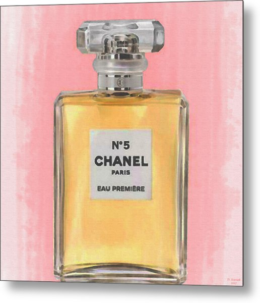 Chanel No 5 Eau De Parfum Metal Print