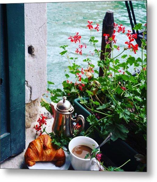 Chanel View Breakfast In Venezia Metal Print