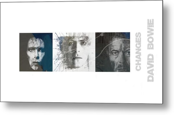 Changes David Bowie Triptych Metal Print