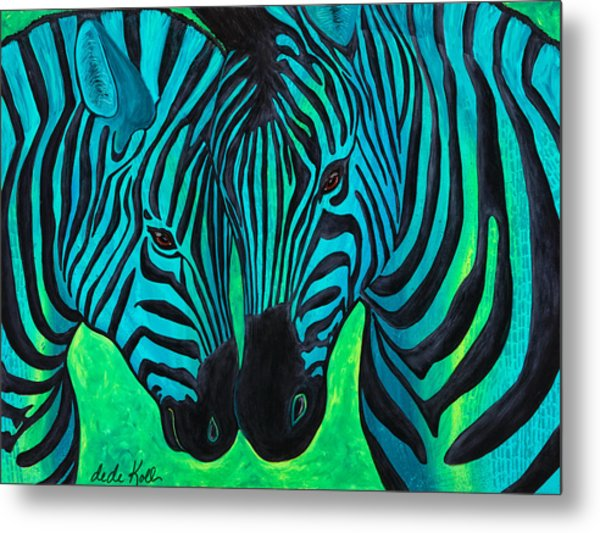 Changing Stripes Metal Print