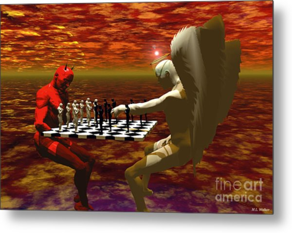 Chaos And Order Metal Print by ML Walker