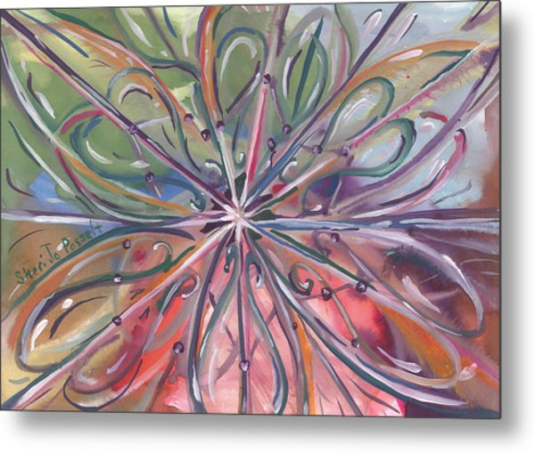 Chaotic Beauty Metal Print