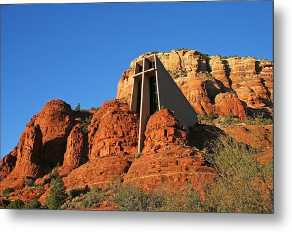 Chapel Afternoon Metal Print