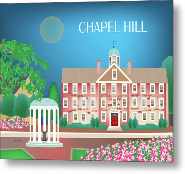 Chapel Hill North Carolina Horizontal Scene Metal Print