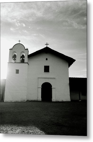 Chapel In The Shadows- Art By Linda Woods Metal Print