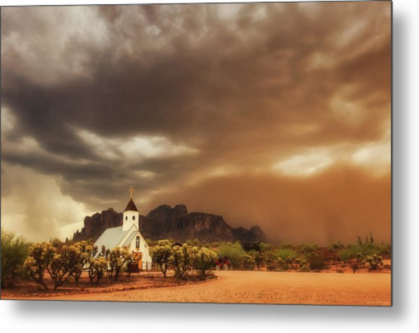 Metal Print featuring the photograph Chapel In The Storm by Rick Furmanek