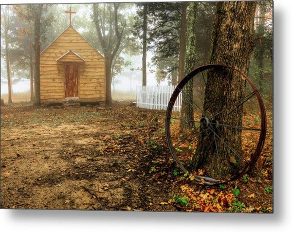 Chapel In The Woods 1 Metal Print