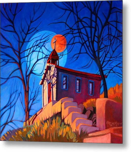Chapel On The Hill Metal Print