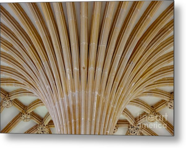 Chapter House Ceiling, Wells Cathedral. Metal Print