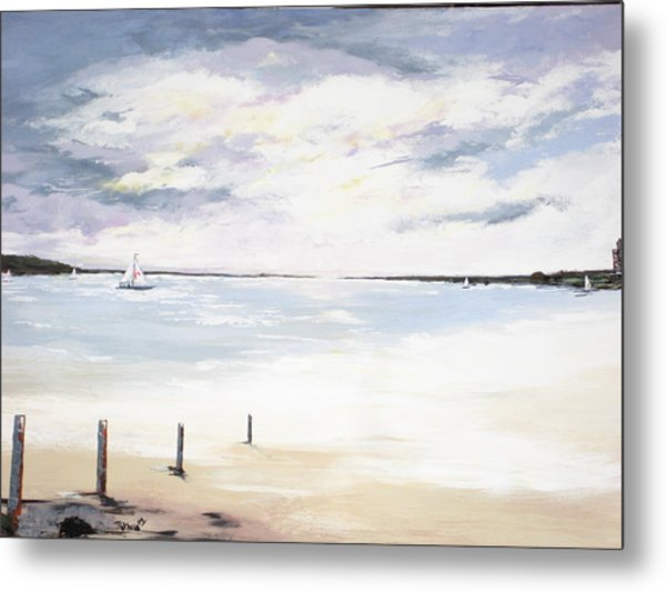 Charles Island At Low Tide Metal Print by Marcia Crispino