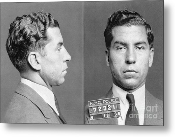 Charles Lucky Luciano Metal Print