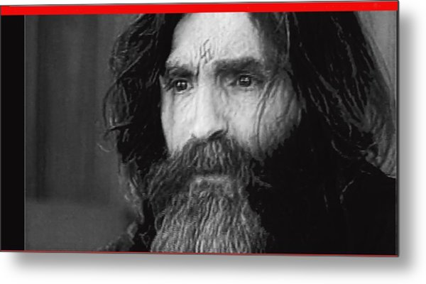 Charles Manson Screen Capture Circa 1970-2015 Metal Print