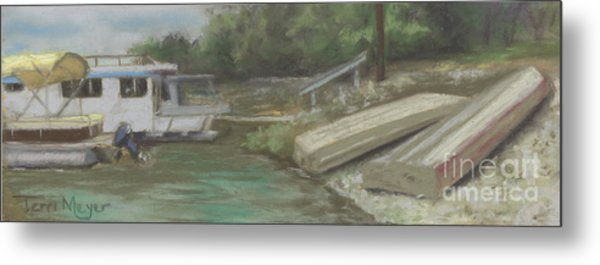Charles Mill Lake - Boats Metal Print by Terri  Meyer