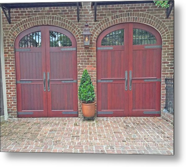 Charleston Doors Metal Print