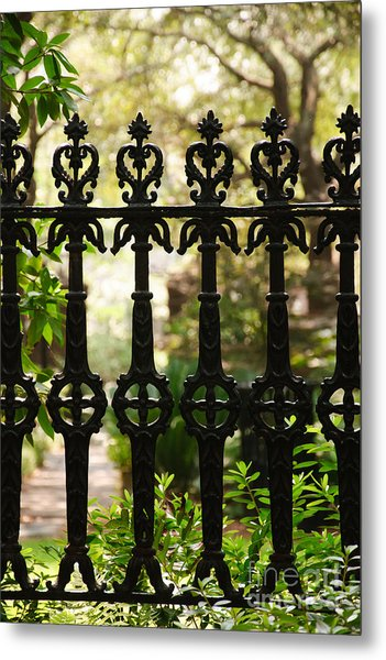 Charleston Fence Metal Print