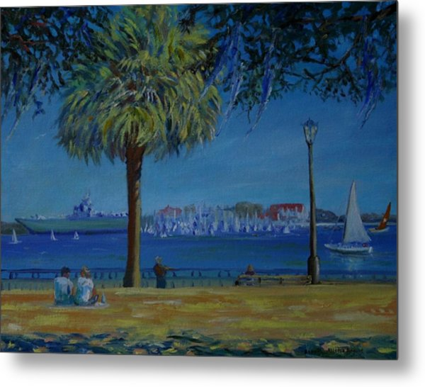 Charleston Harbor Sunday Regatta Metal Print