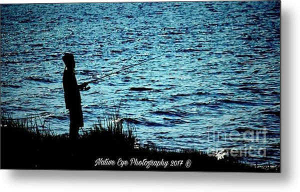 Charleston Morning Fishing Metal Print