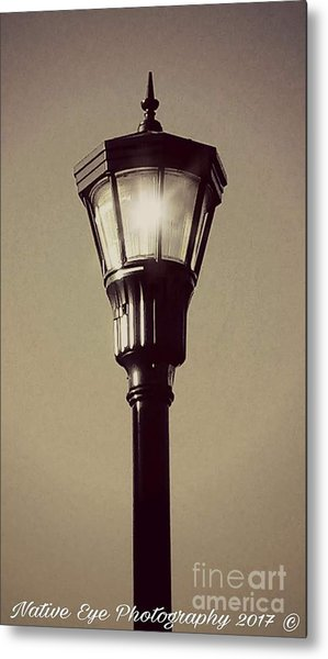 Charleston Morning Streetlight Metal Print