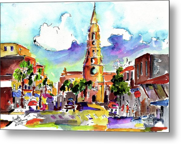 Charleston North Market Street Metal Print