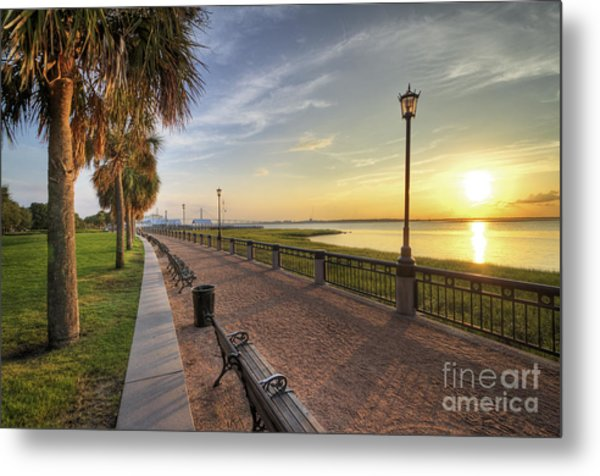 Charleston Sc Waterfront Park Sunrise  Metal Print