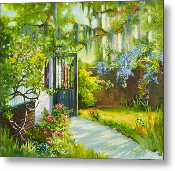 Charleston Side Garden Metal Print