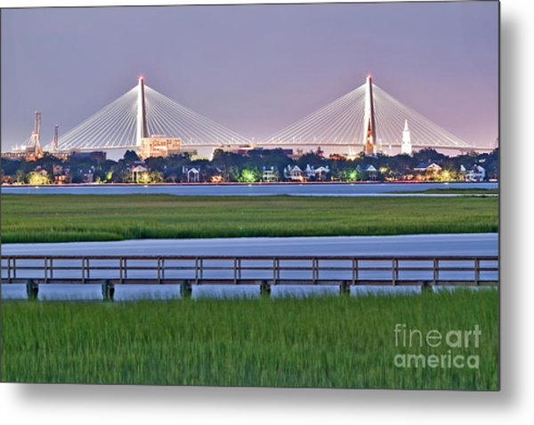 Charleston South Carolina Skyline Metal Print