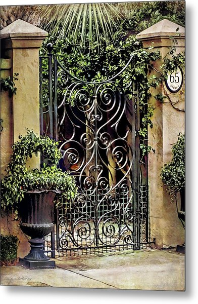 Charleston South Carolina Wrought Iron Gates Metal Print