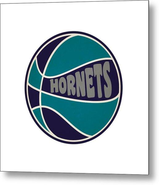 Charlotte Hornets Retro Shirt Metal Print