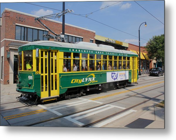 Charlotte Streetcar Line 4 Metal Print by Joseph C Hinson Photography