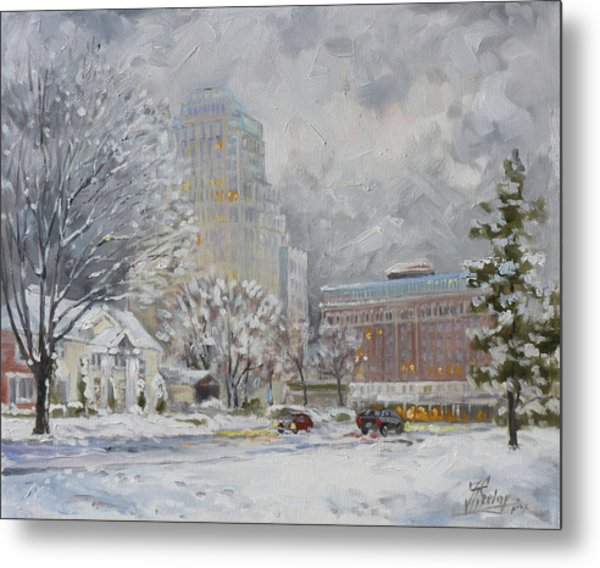 Chase Park Plaza In Winter, St.louis Metal Print