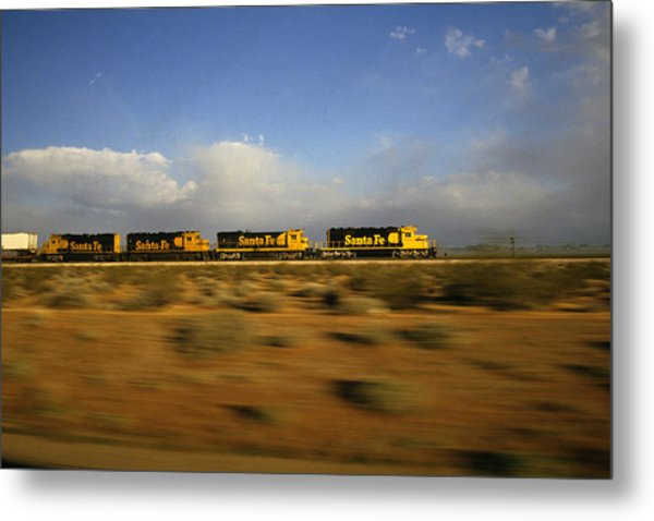 Chasing The Desert Wind Metal Print by Susan  Benson