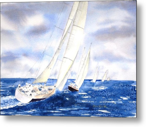 Chasing The Fleet Metal Print