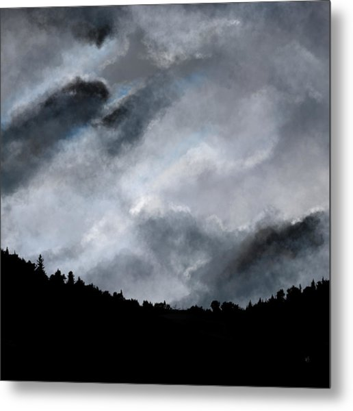 Chasing The Storm Metal Print