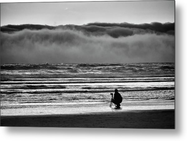 Chasing Tide And Light Metal Print
