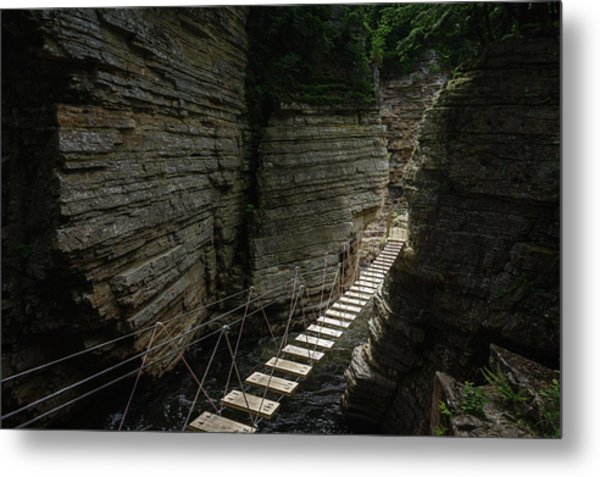 Chasm Bridge Metal Print