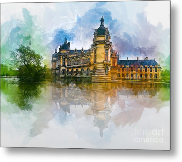Chateau De Chantilly Metal Print