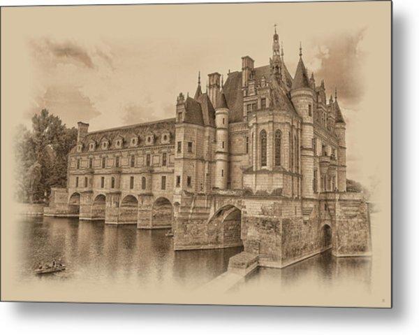 Metal Print featuring the photograph Chateau De Chenonceau by Nigel Fletcher-Jones