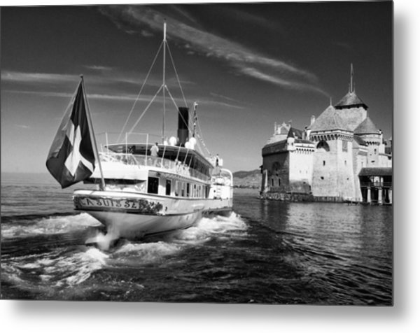 Chateau De Chillon, Steamboat Metal Print