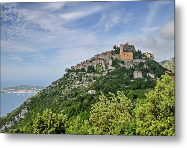 Chateau D'eze On The Road To Monaco Metal Print