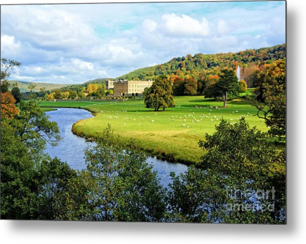 Chatsworth House View Metal Print