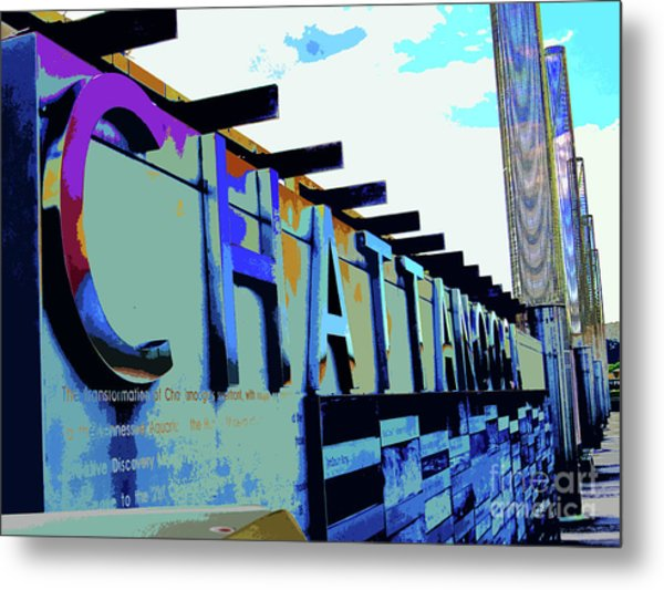 Chattanooga Tennessee Sign Metal Print