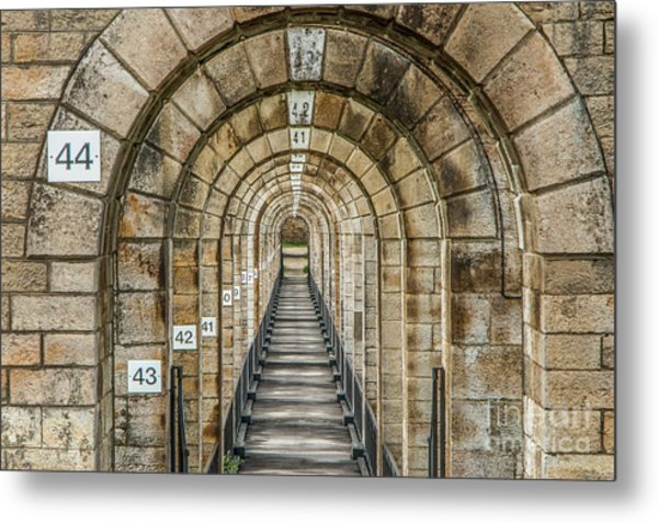 Chaumont Viaduct France Metal Print