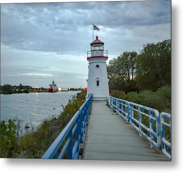 Cheboygan Crib Lighthouse Lake Huron, Lower Peninsula Mi Metal Print