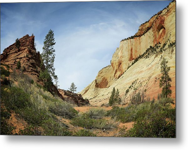Checkerboard Mesa Metal Print