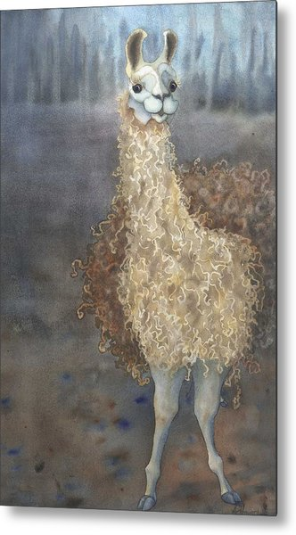 Cheeky The Llama Metal Print